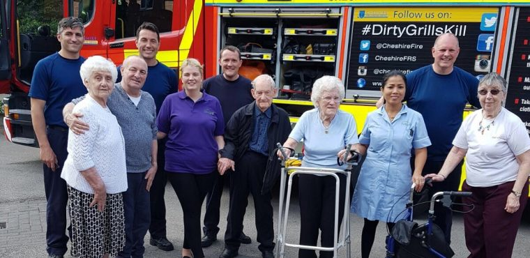Halton View Care Home residents get lesson in fire safety