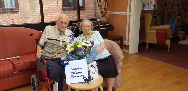 65 years of wedded bliss for Rotherham care home couple