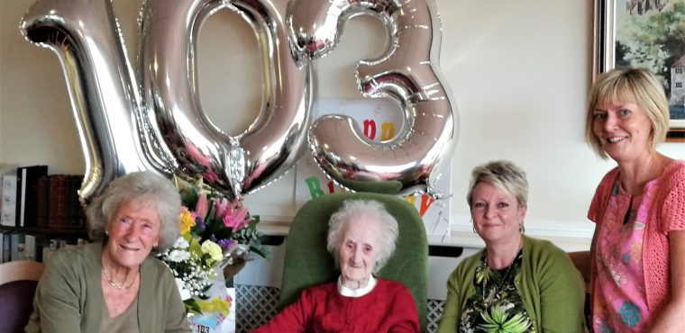 Ava celebrates 103rd birthday at Pelton Grange Care Home