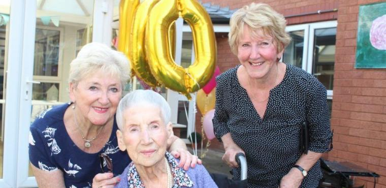 Over 300 birthday cards for Hilda's centenary