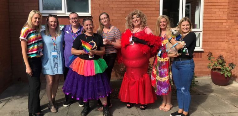 LGBT pride summer fayre at Ellesmere Port care home