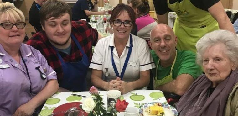 Café serves care home residents supermarket surplus