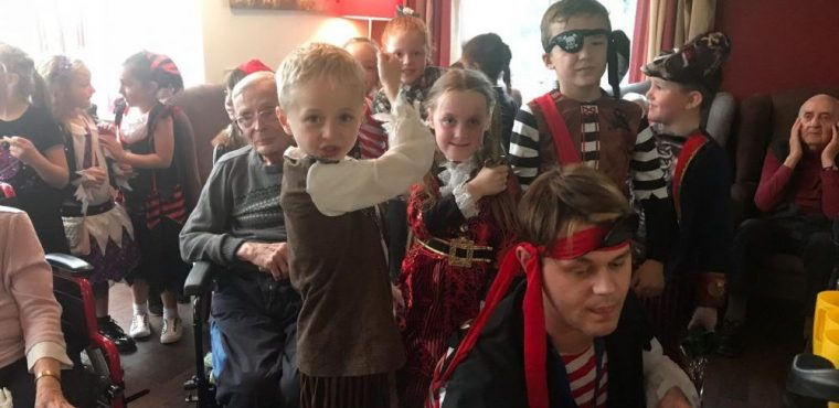 Care home boarded by young buccaneers on pirate day