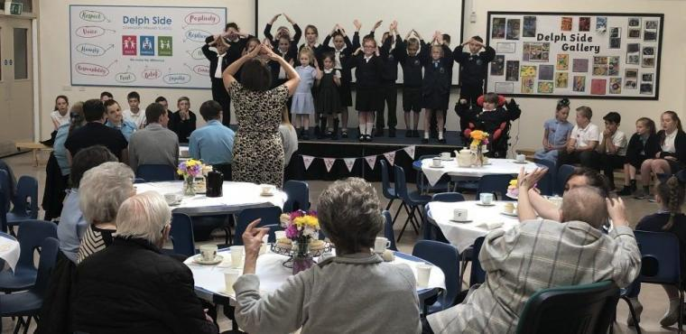 School performs The Greatest Showman for elderly residents