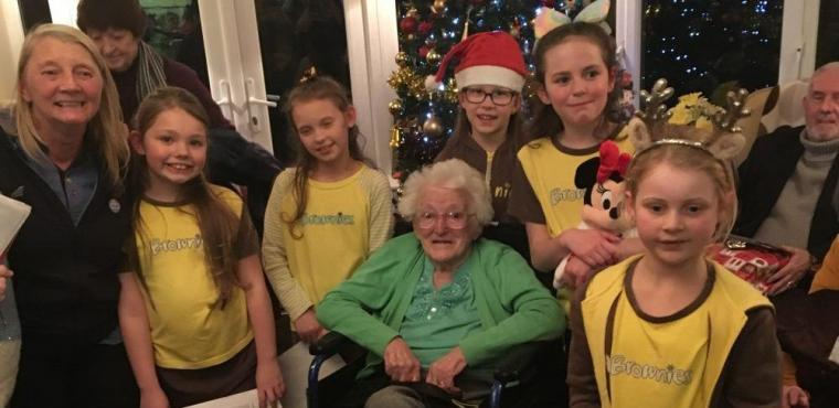 Brownies spread festive spirit at Merseyside care home