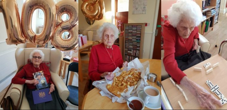 Ivy celebrates her 108th birthday with family and friends