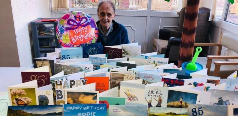 Eddie, 85, gets seaside birthday party after successful appeal
