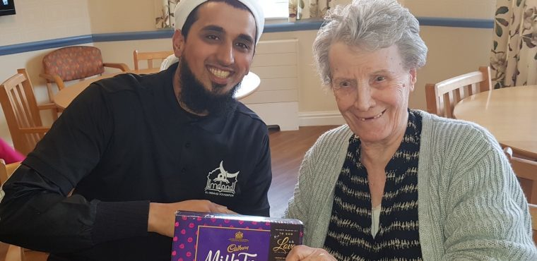 Charity donates chocolates to care home residents