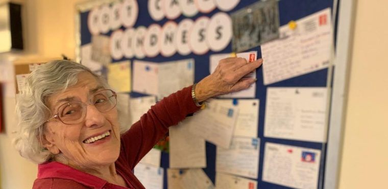 Postcards helping to tackle loneliness at Worsley care home