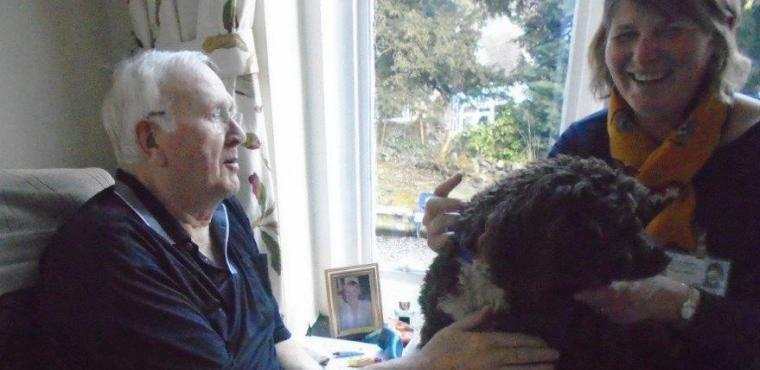Pet therapy sessions help Bakewell care home residents