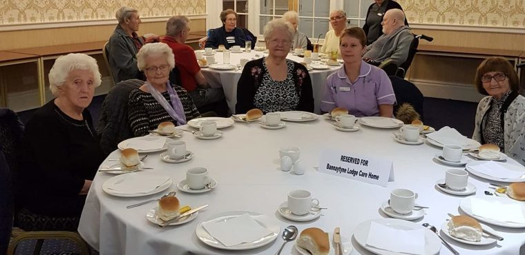 Mayor serves new year tea party for Peterlee elderly