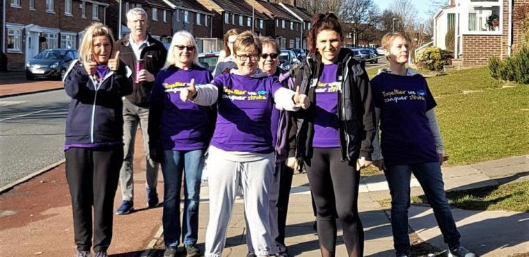 Care home sponsored walk raises funds for Stroke Association