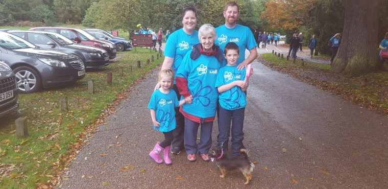 Memory Walk for care home resident with dementia
