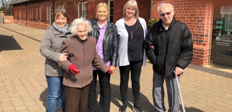 Walking group sparks memories for residents with dementia