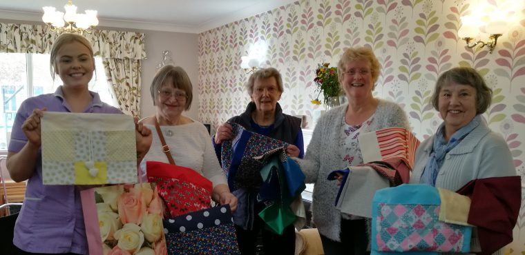 Upcycled offcuts help residents with walking frames