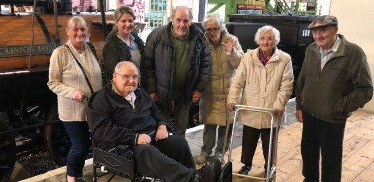 Train journey back in time for Teesside care home residents