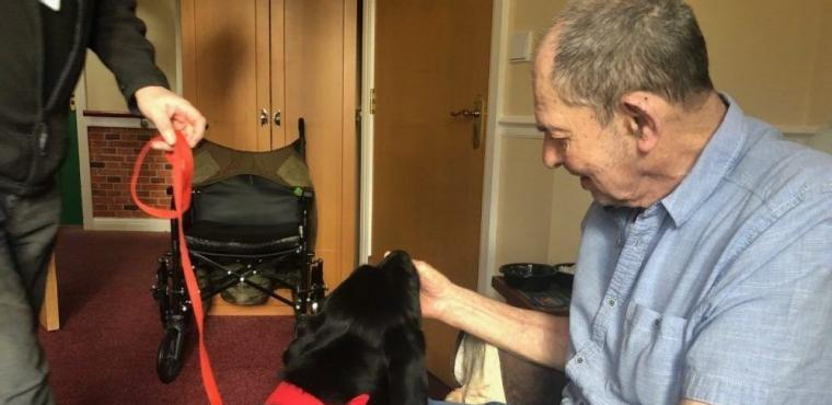 Visiting dog inspires care home resident to speak