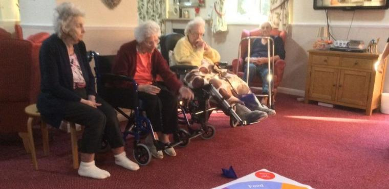 Elderly athletes prepare for Rotherham Care Home Olympics