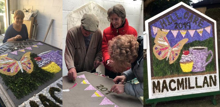 Care home & cancer charity create well dressing for ancient ceremony