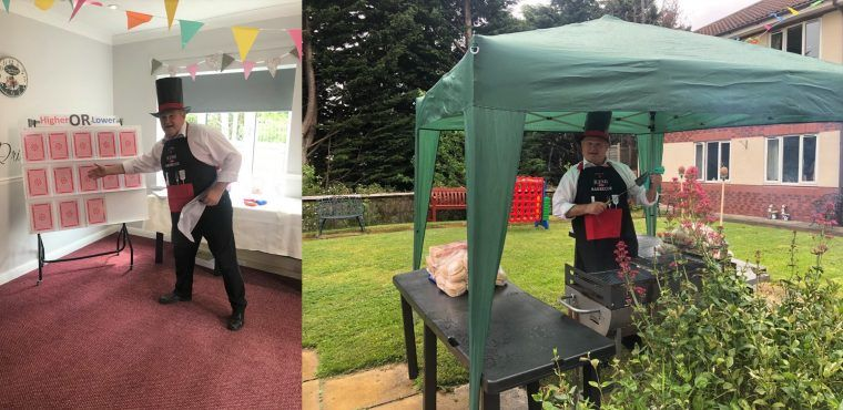 Care home's carnival party for National BBQ Week