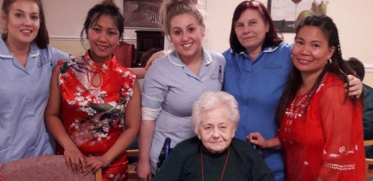 Chinese New Year celebrations at Chesterfield care homes