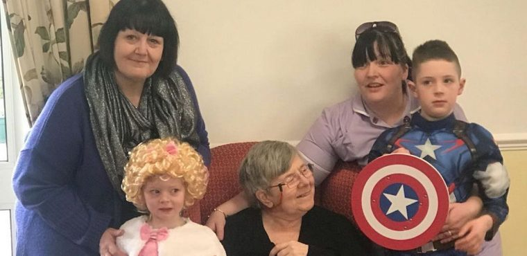 Superheroes/Disney characters visit Chesterfield care homes on World Book Day