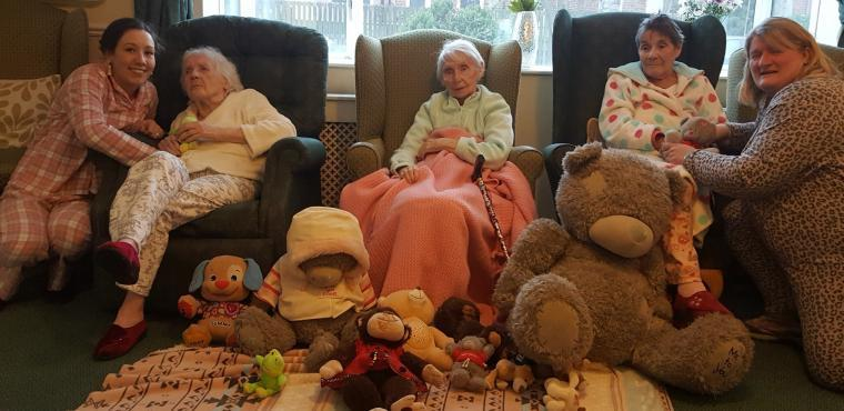 Care home marks National Old Stuff Day with PJs and bears