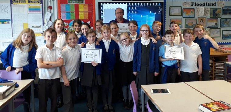 School children learn about dementia from Champion