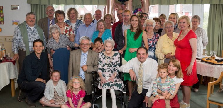 Farmer Eileen marks her 100th with care home party