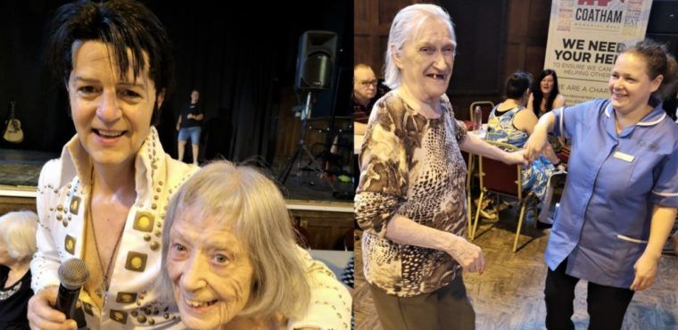Elvis gets elderly swinging their hips at Redcar party
