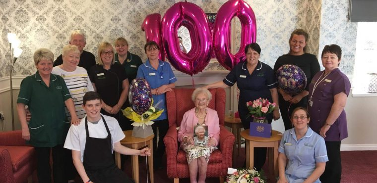 Ethel celebrates 100th birthday at Ingleby Care Home