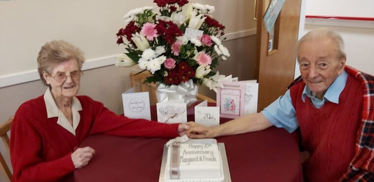 Childhood sweethearts celebrate 70 years of marriage