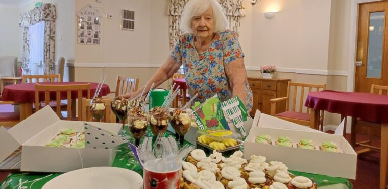 Disco and cakes help care home fundraise for cancer charity
