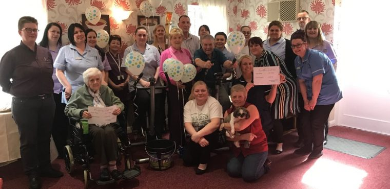 Care homes cycle over 700 miles for Alzheimer's Society
