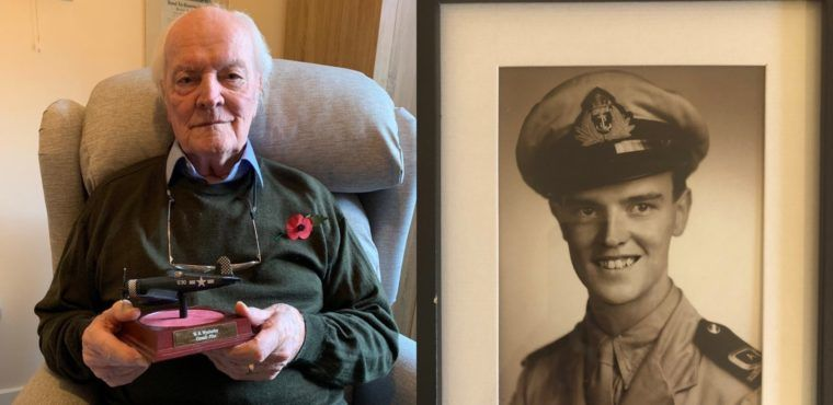 WW2 fighter pilot among those paying respects on Remembrance Day