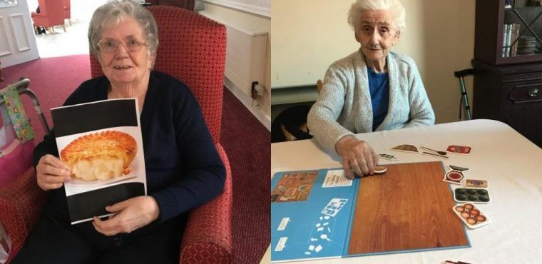 Care home uses pies to help residents remember