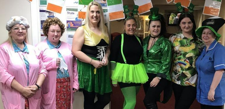 Mrs Brown and Leprechauns spotted at Widnes care home