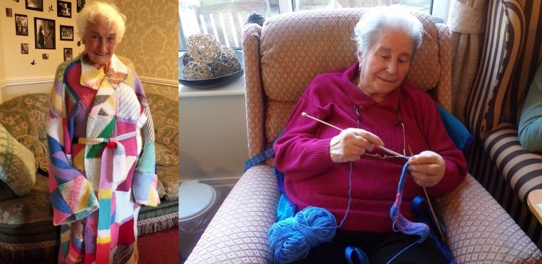 Technicolour dressing gowns to keep elderly warm this winter