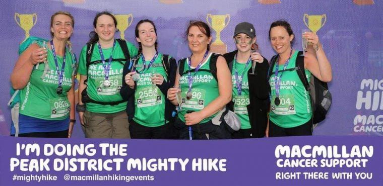 Mighty marathon hike raises funds for Macmillan