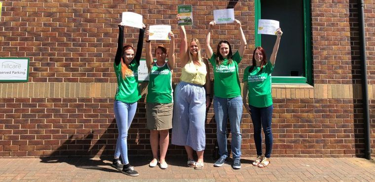Care home staff's marathon hike for cancer charity