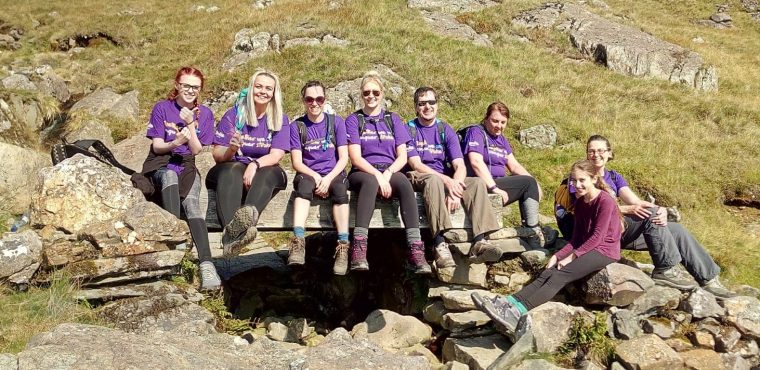 Hill Care team's Snowdon summit nets over £1,400 for charity