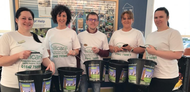 Teesside homes' charity bag pack raises funds for dementia fight