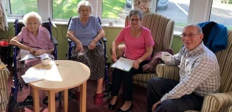Care home supports cancer charity with coffee morning