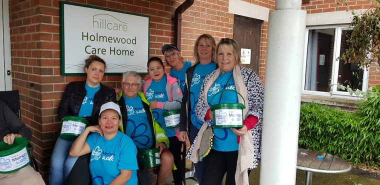 Care home staff walk over 10 miles to raise funds for charity