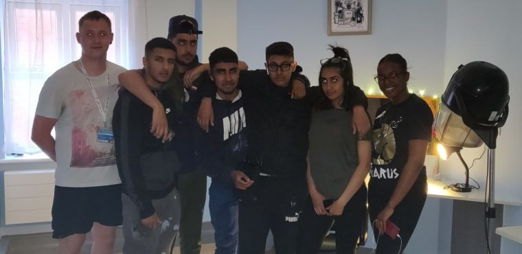 Giants' students give care home salon a makeover