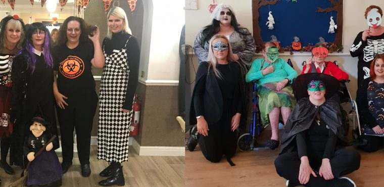 Huddersfield care homes hold haunted Halloween parties