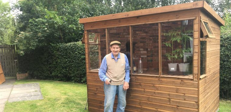 Potting shed keeps 96-year-old John gardening
