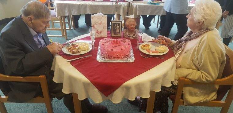 75 years of marriage for Holmewood Care Home couple