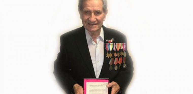 Russia award Ingleby Care Home resident for WWII service
