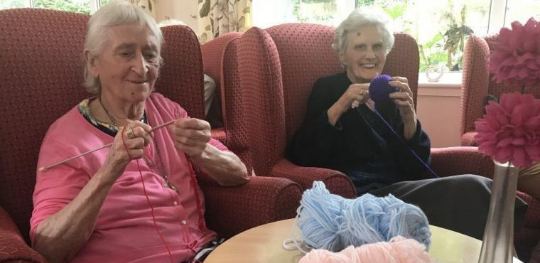 Care home knitting club creates gifts for premature babies